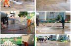 شهرداري كنگان در آستانه مهرماه اقدام به شستشو مدارس كرد